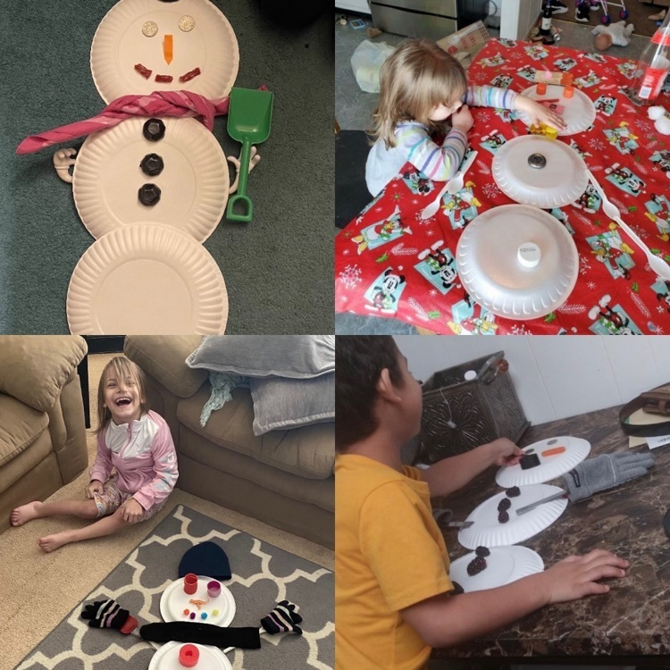 Students from Mrs. Cook's class learning at home today. ☃️