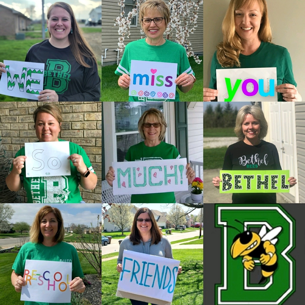 Bethel Preschool staff showing love for their students 💚